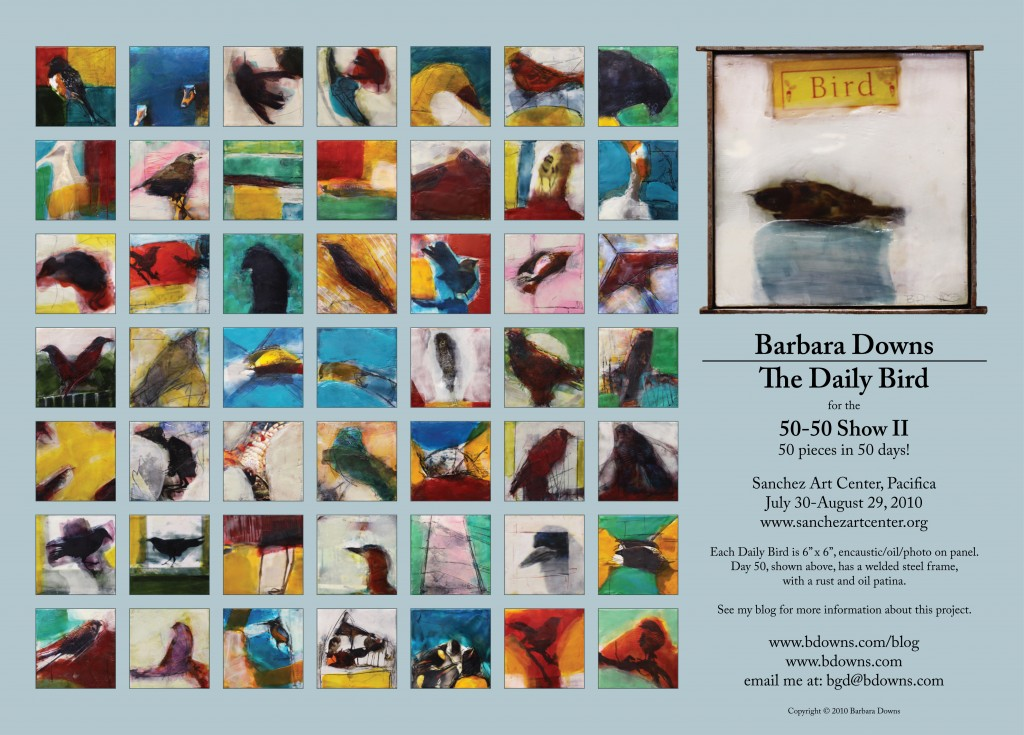 Barbara Downs announcement for The Daily Bird at the 50-50 show