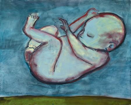 Original artwork by Barbara Downs, Iceland/Ísland (I), Oil on Canvas