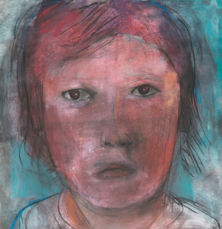 Original artwork by Barbara Downs, Child Drawing (III), Mixed Media on Paper