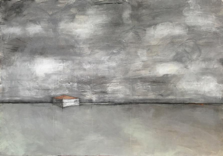Original artwork by Barbara Downs, Talisman (II), Charcoal, Chalk, Pencil on Paper