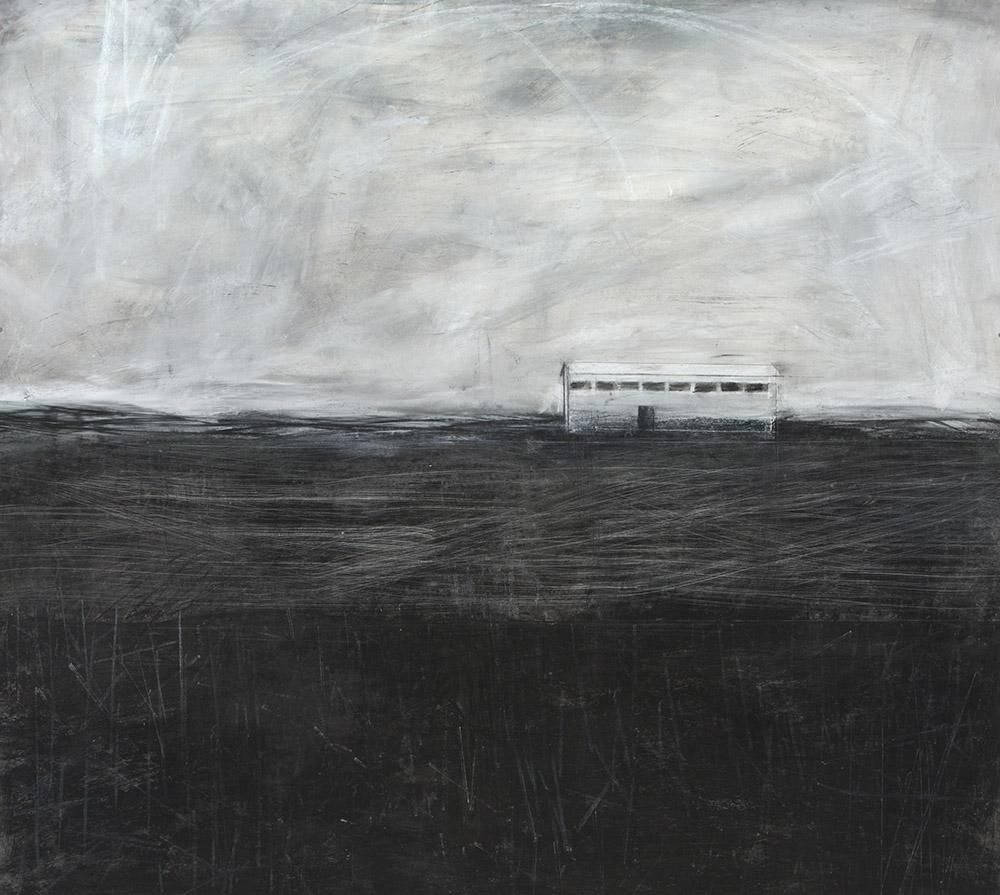 Original artwork by Barbara Downs, Talisman (I), Charcoal, Chalk, Wax, Pencil on Paper