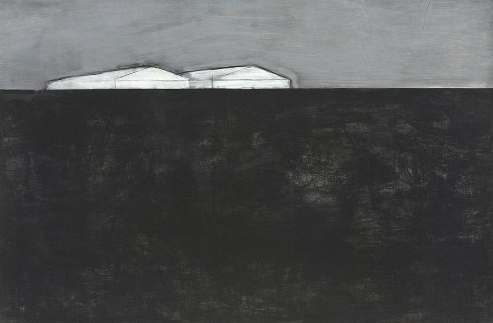 Original artwork by Barbara Downs, Talisman (III), Charcoal, Chalk, Pencil on Paper