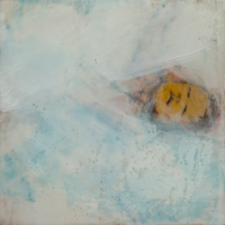 Original artwork by Barbara Downs, In Memory of Childhood #1, Encaustic/Oil on Panel