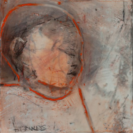 Original artwork by Barbara Downs, In Memory of Childhood #3, Encaustic/Oil on Panel