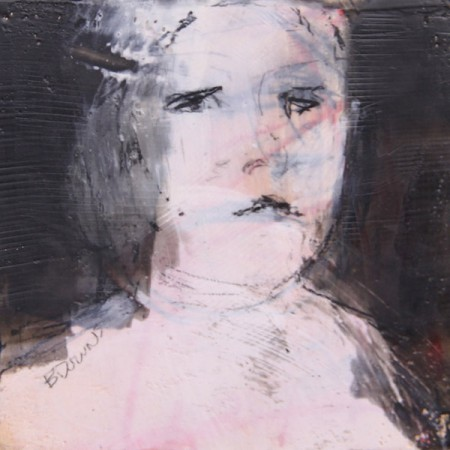 Original artwork by Barbara Downs, In Memory of Childhood #4, Encaustic/Oil on Panel