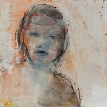 Original artwork by Barbara Downs, In Memory of Childhood #7, Encaustic/Oil on Panel