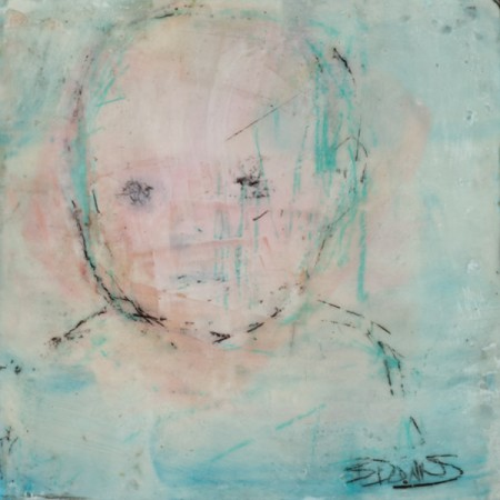 Original artwork by Barbara Downs, In Memory of Childhood #9, Encaustic/Oil on Panel