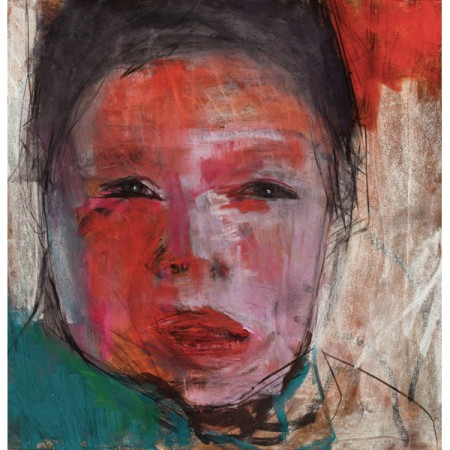 Original artwork by Barbara Downs, Child Drawing (I), Mixed Media on Paper