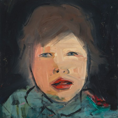 Original artwork by Barbara Downs, Child Painting (II), Oil/Mixed-Media on Panel
