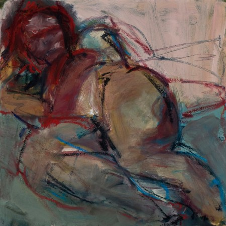 Original artwork by Barbara Downs, Reclining Figure (II), Oil on Canvas