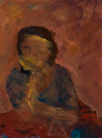 Original artwork by Barbara Downs, Self-Portrait for Strangers (II), Acrylic on Canvas