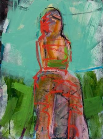Original artwork by Barbara Downs, Internal Dilemma, Oil on Canvas