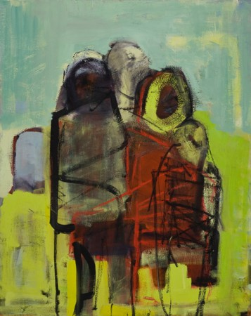 Original artwork by Barbara Downs, Migration (II), Oil on Canvas