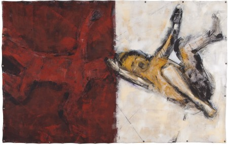 Original artwork by Barbara Downs, Falling and Fallen, 2012