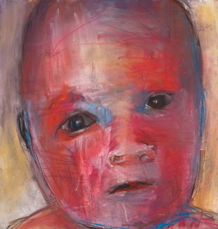Original artwork by Barbara Downs, Child Drawing (II), Mixed Media on Paper