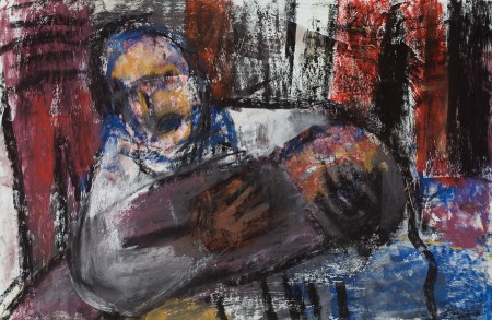 Original artwork by Barbara Downs, The Sorrows, Mixed Media on Paper
