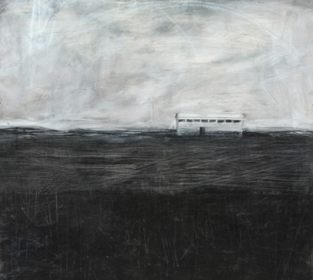 Original artwork by Barbara Downs, Talisman (I), Charcoal, Chalk, Wax, Pencil on Paper