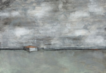 Original artwork by Barbara Downs, Talisman (II), Charcoal, Chalk, Pencil on Paper