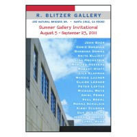 Barbara Downs announcement for R. Blitzer Invitational exhibition