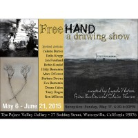 Barbara Downs announcement for FreeHand exhibition