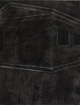 Original artwork by Barbara Downs, Talisman (IV), Charcoal, Chalk, Wax, Pencil on Paper