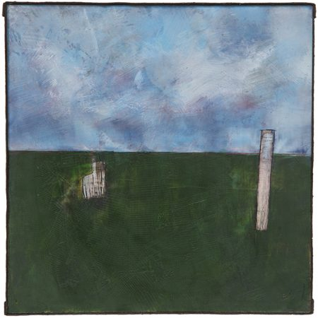 original artwork by Barbara Downs, Iceland Study #1, Encaustic/Oil/Mixed-Media on Panel