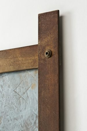 Original artwork by Barbara Downs, detail of Talisman (IX), Encaustic on Paper with Steel Frame