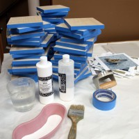 Barbara Downs, the making of The Daily Bird, encaustic series: 2. ready to glue
