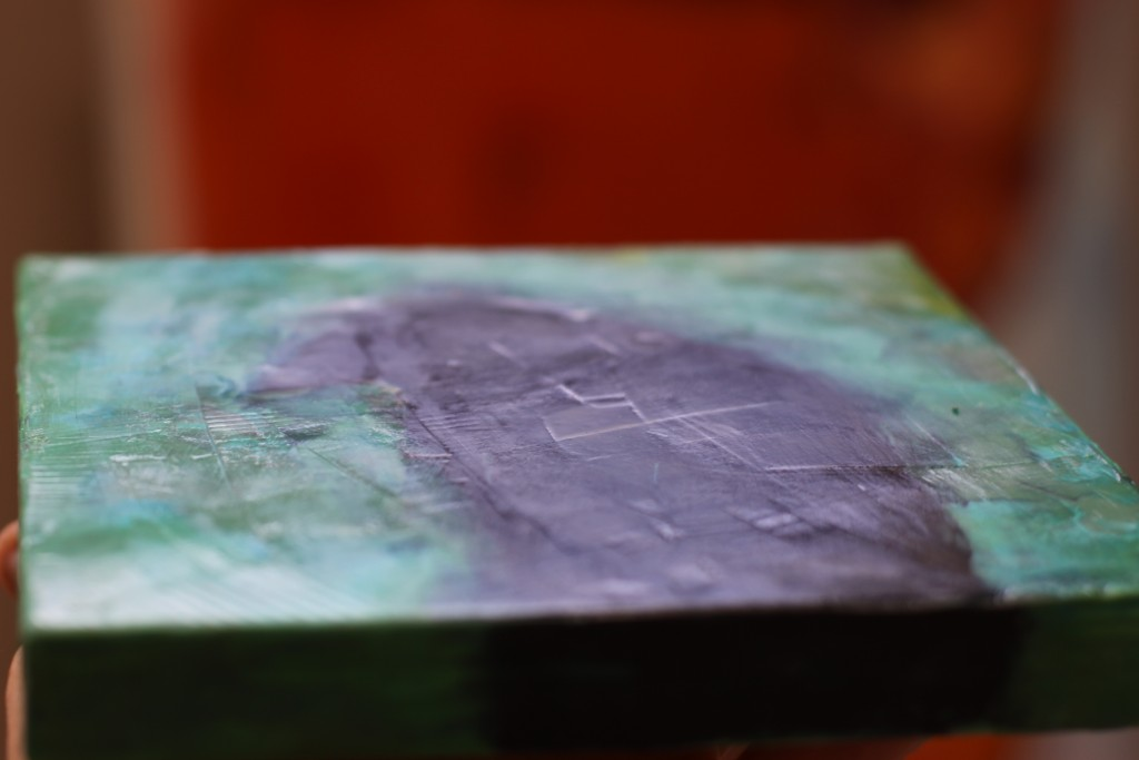 Barbara Downs photo showing surface finish on encaustic piece