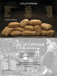 Barbara Downs announcement for California exhibition