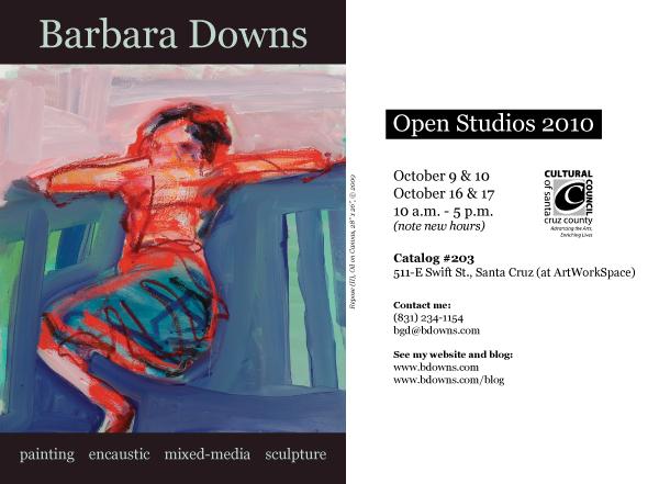 Barbara Downs announcement for Open Studio 2010