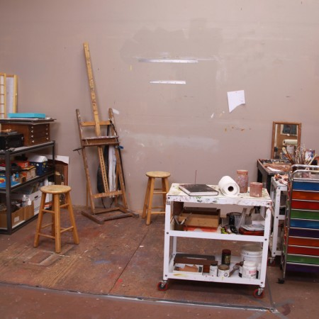 Barbara Downs studio BEFORE cleaning