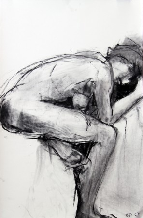 original artwork by Barbara Downs and Claire Thorson, untitled figure drawing