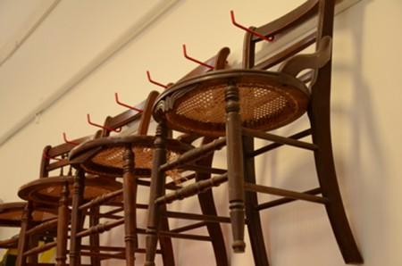 Barbara Downs chairs awaiting transformation