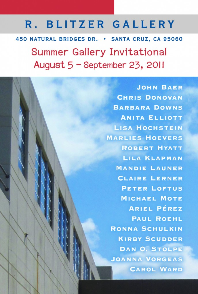 Barbara Downs announcement for Summer Gallery Invitational exhibition