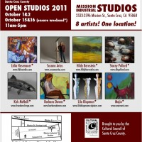 Barbara Downs announcement for Open Studios 2011 exhibition