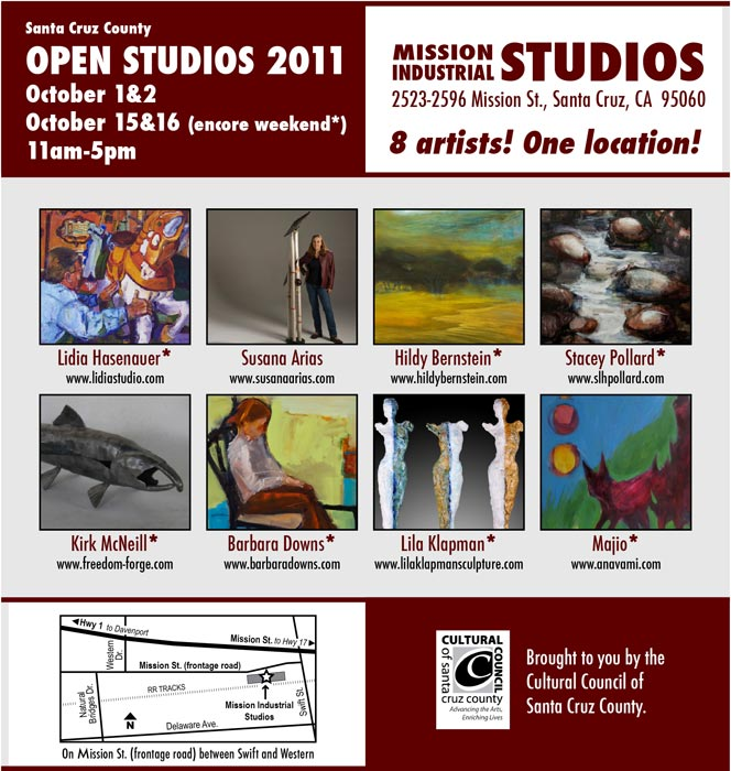 Barbara Downs announcement for Open Studios 2011