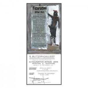 Barbara Downs announcement for A Figurative Affair 2015 exhibition