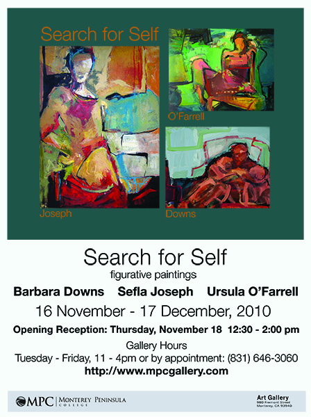 Barbara Downs announcement for Search for Self exhibition