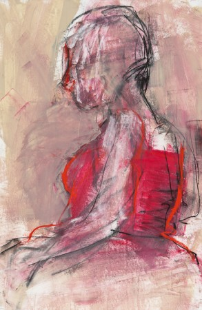 Original artwork by Barbara Downs, Untitled Drawing, Mixed Media on Paper