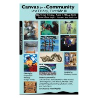 Barbara Downs announcement for Canvas for a Community exhibition