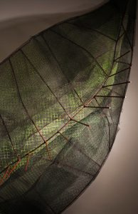 "detail of An Inviting Leaf, Painted Steel and Wire Mesh, 60"" x 60"" x 36"", 2009"