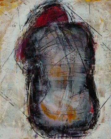 original artwork by Barbara Downs, Curled Figure #1, 2013