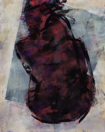original artwork by Barbara Downs, Curled Figure #3, 2013